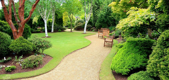 Large landscaped area